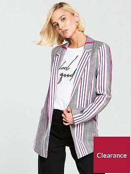 river-island-striped-checked-printednbspblazer-pink