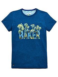 a8eddde69aa804 Baker by Ted Baker Boys Logo Palm Tree T-Shirt