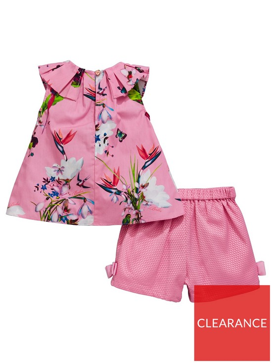 b3bbc87ce ... Ted Baker Baby Girls Oasis Printed Top And Short Set. View larger