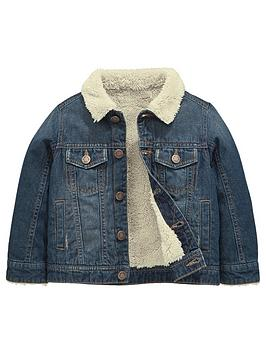 mini-v-by-very-fleece-lined-denim-jacket