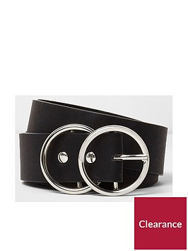 river-island-double-ring-belt--black