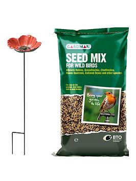 cast-iron-poppy-feeder-dish-amp-seed-mix-1255kg