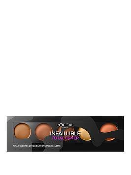 loreal-paris-infallible-total-cover-concealer-palette-dark