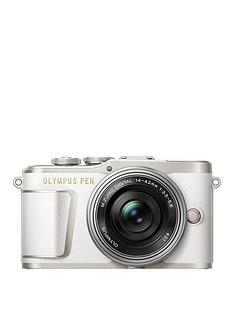 olympus-pen-e-pl9-compact-system-camera-in-white-with-14-42-ez-lens