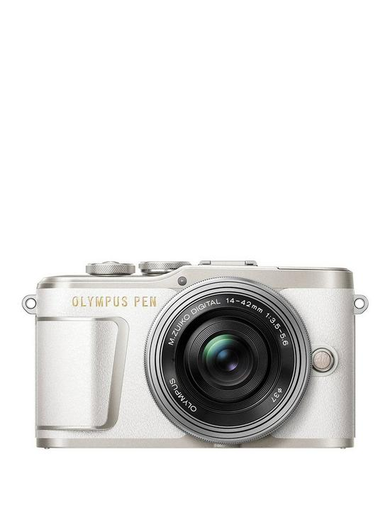 ddd9be6fda PEN E-PL9 Compact System Camera with 14-42 EZ Lens - White