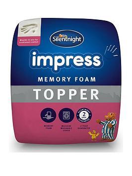 Silentnight Luxury Impress 7Cm Memory Foam Mattress Topper