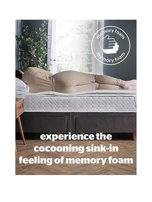 Foam Mattress Topper.Silentnight Luxury Impress 7cm Memory Foam Mattress Topper Very