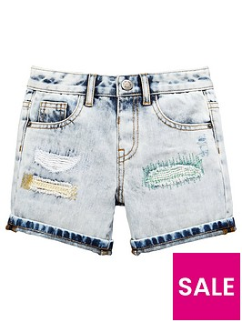 mini-v-by-very-boys-reversed-patch-distressed-denim-short