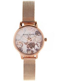 olivia-burton-marble-florals-mesh-strap-watch-rose-gold