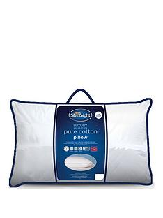 Silentnight Luxury Collection Pure Cotton Cover Front Sleeper Pillow