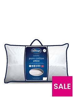Silentnight Luxury Collection Pure Cotton Cover Side Sleeper Pillow