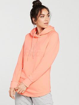 Adidas Dipped Hem Hoodie - Light Coral