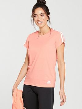 adidas-essentials-3-stripes-slim-tee-light-coralnbsp