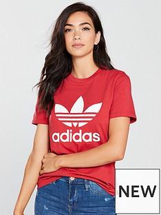 adidas-trefoil-tee-rednbsp