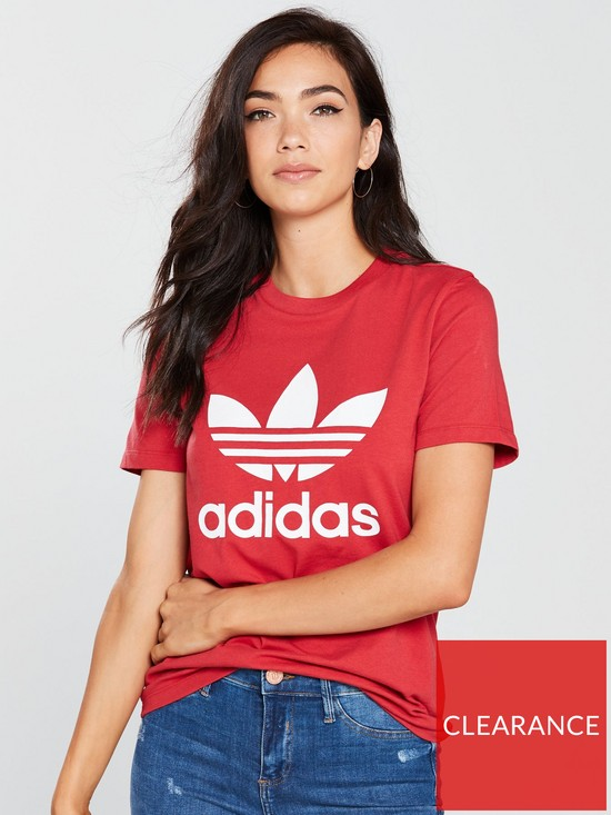 38be6797e48 adidas Originals Trefoil Tee - Red | very.co.uk