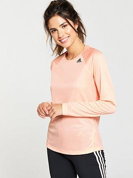 Adidas D2M Long Sleeve Top - Pale Pink
