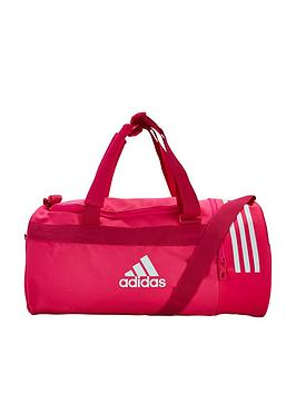 Adidas 3 Stripe Duffel Compartment Bag - Bright Pink