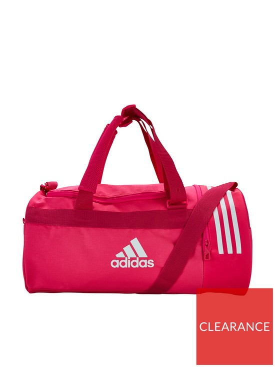 4cee3e1708 adidas 3 Stripe Duffel Compartment Bag - Bright Pink