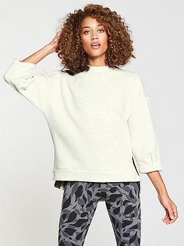 Adidas Gathered Hem Feminine Sweat - White