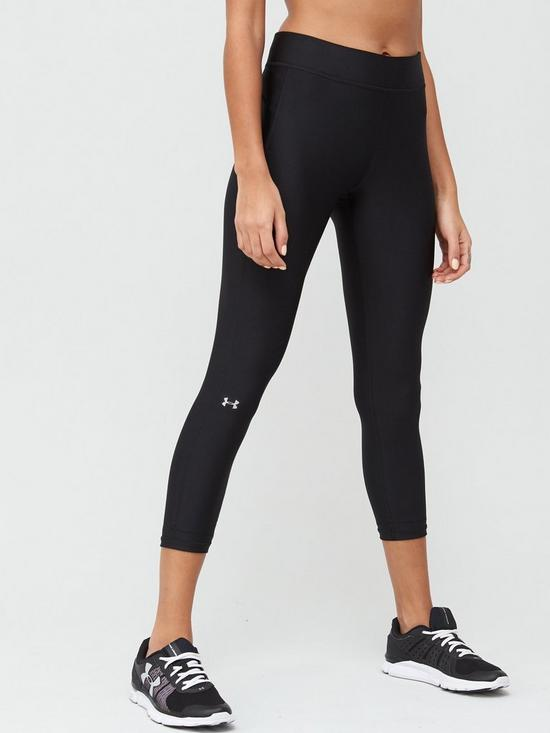 d12e129dca8f3 UNDER ARMOUR HeatGear® Armour Ankle Crop Leggings - Black | very.co.uk