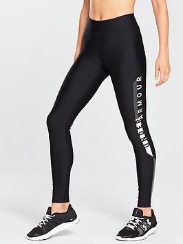Under Armour Heatgear&Reg; Armour Logo Legging - Black