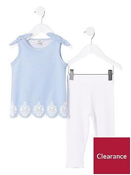 river-island-mini-girls-stripe-bow-shoulder-vest-top-and-leggings-set