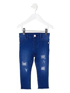 river-island-mini-girls-blue-molly-ripped-raw-hem-jeans