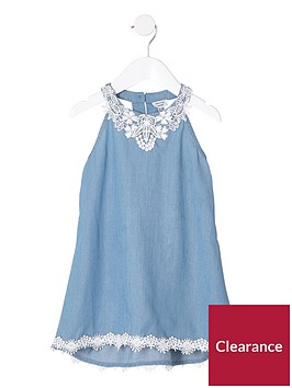 river-island-mini-girls-lace-denim-trapeze-dress