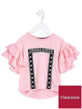 river-island-mini-girls-pink-drama-queen039-t-shirt
