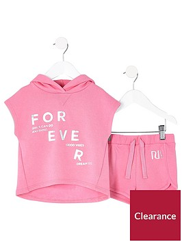 river-island-mini-girls-pink-poncho-hoodie-outfit