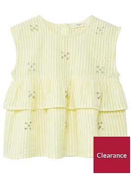 mango-girls-stripe-frill-jewelled-blouse-yellow