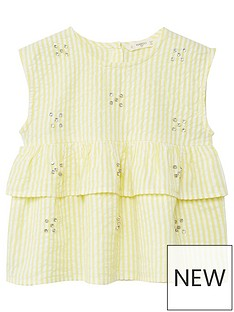 mango-girls-stripe-frill-jewlled-blouse