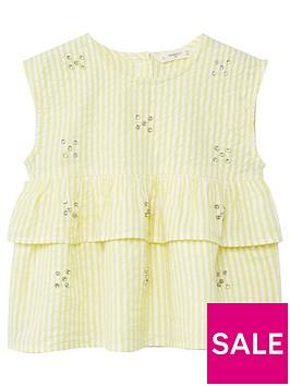 mango-girls-stripe-frill-jewlled-blouse