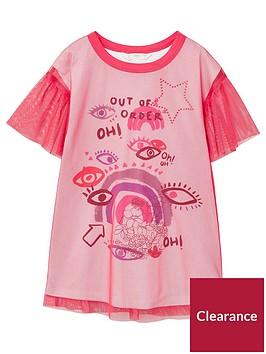 mango-girls-mesh-overlay-dress-fuchsianbsp