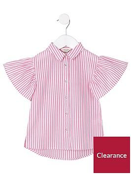 river-island-mini-girls-pink-stripe-frill-sleeve-shirt