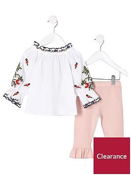 river-island-mini-girls-white-poplin-bardot-top-outfit