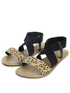 3c6348fe5552c3 Accessorize Animal Elastic Cross Strap Sandal