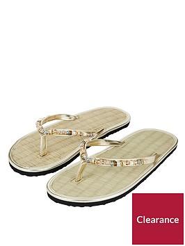 accessorize-memphis-metallicnbspbead-seagrass-flip-flop-sandal-gold
