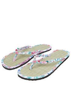 c03063028d5347 Accessorize Tropical Tahiti Seagrass Flip Flop Sandal
