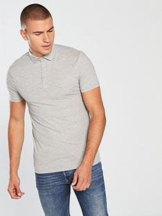 river-island-grey-essential-muscle-fit-polo-shirt