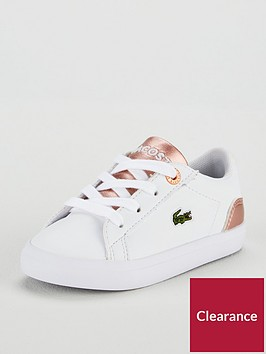 lacoste-lacoste-infant-girls-lerond-318-metallic-lace-up-plimsoll