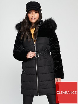 v-by-very-velvet-mix-padded-coat-black