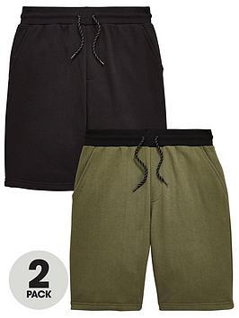 v-by-very-2-pack-jog-shorts-khaki-black