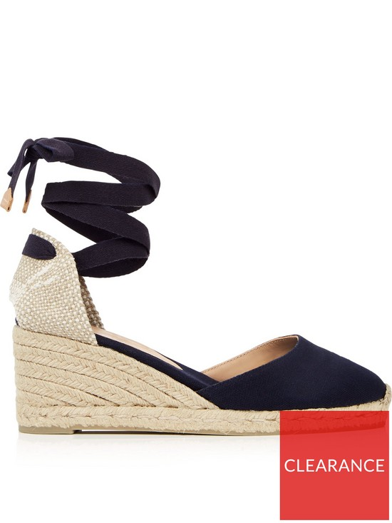 9bc3d3ddd16fd CASTANER Carina Wedge Espadrilles- Navy | very.co.uk