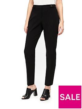 wallis-petite-cotton-luxe-trouser-black