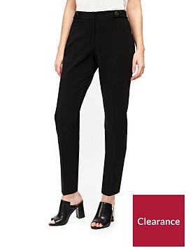 wallis-petite-cotton-luxe-trouser-black