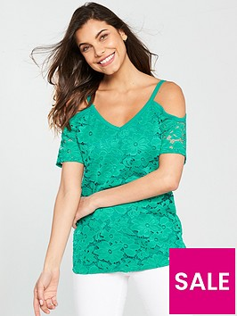 v-by-very-cold-shoulder-lace-top-teal