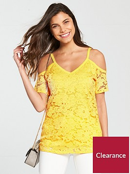 v-by-very-cold-shoulder-lace-top-yellow