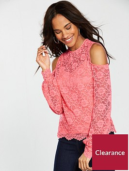 v-by-very-cold-shoulder-lace-top-coral