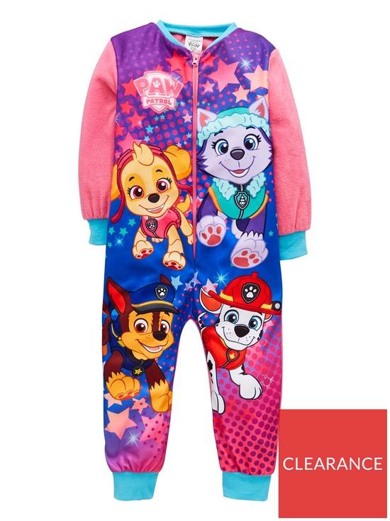 4c939f69af28 Girls Fleece Sleepsuit